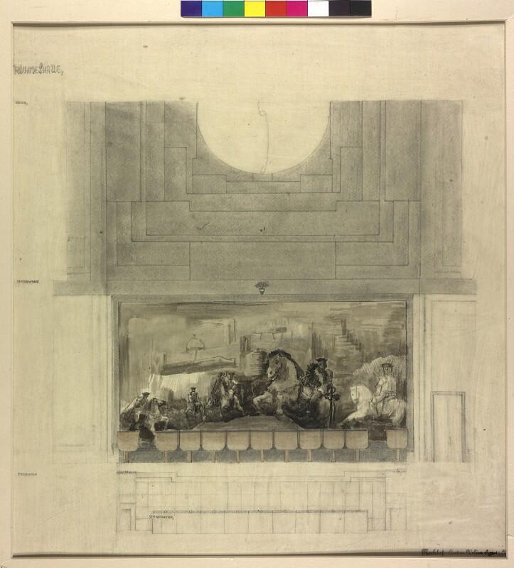 Reiterszene des 18. Jahrhunderts