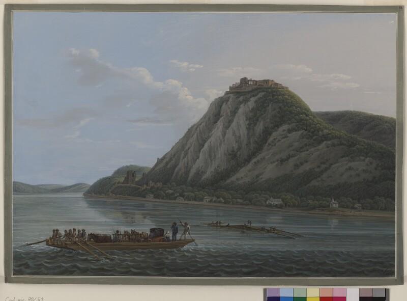 Cod. Min. 80, Tf. 51: Landschaften in Österreich und Italien: Ruine Visegrad