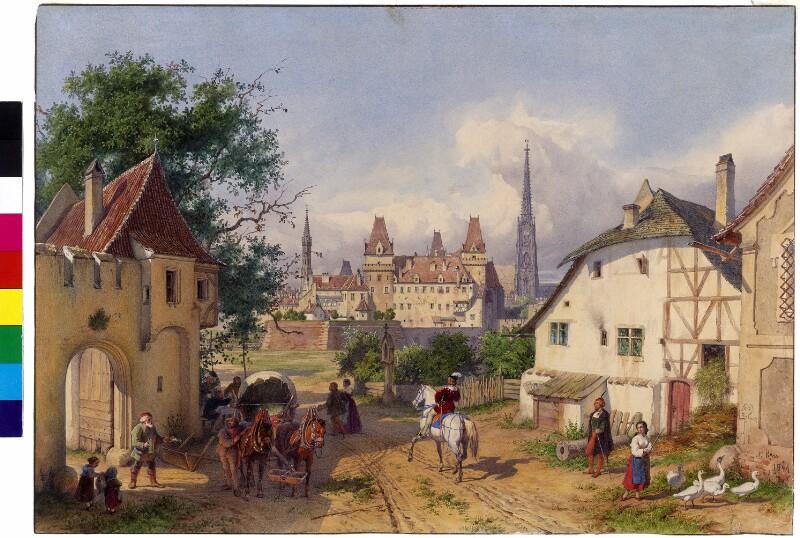 Die Hofburg in Wien im 16. Jahrhundert