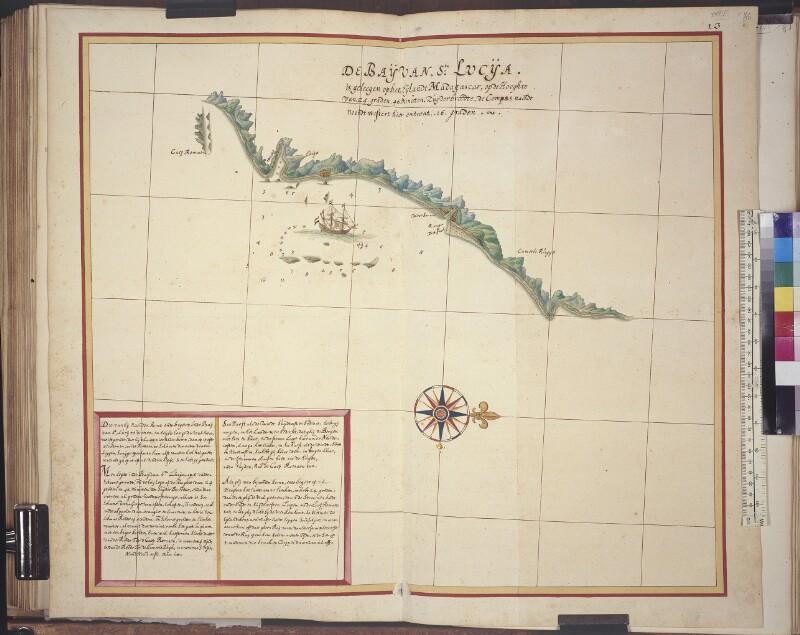 Landkarte der Bucht von Sainte-Luce in Madagaskar