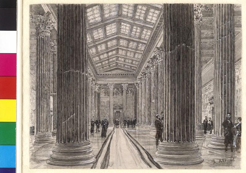 In der Säulenhalle des Reichsratsgebäudes