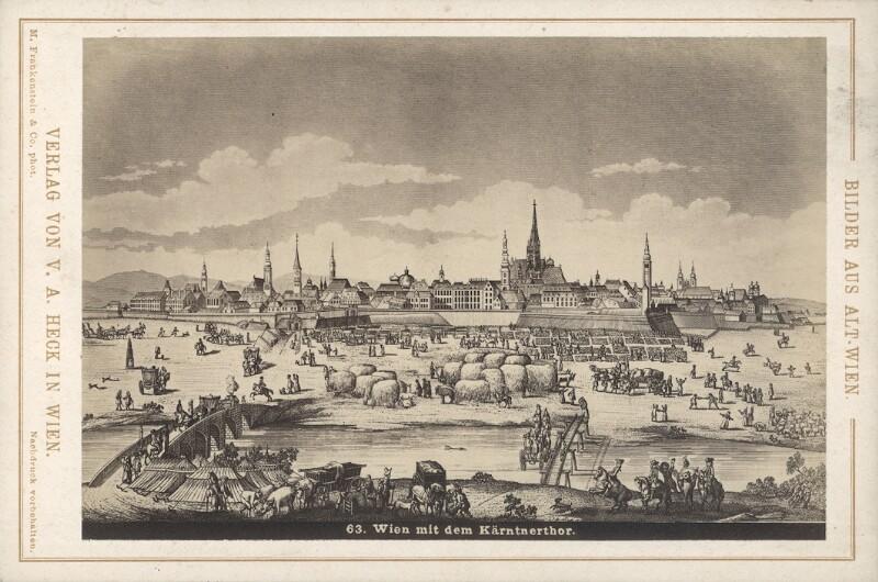 Ansicht von Wien mit dem Kärntnertor