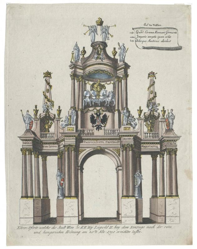 Triumphbogen der Stadt Wien für Kaiser Leopold II.