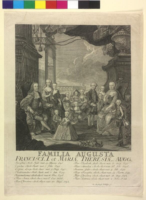Kaiser Franz Stephan I. und Kaiserin Maria Theresia im Kreise ihrer Kinder
