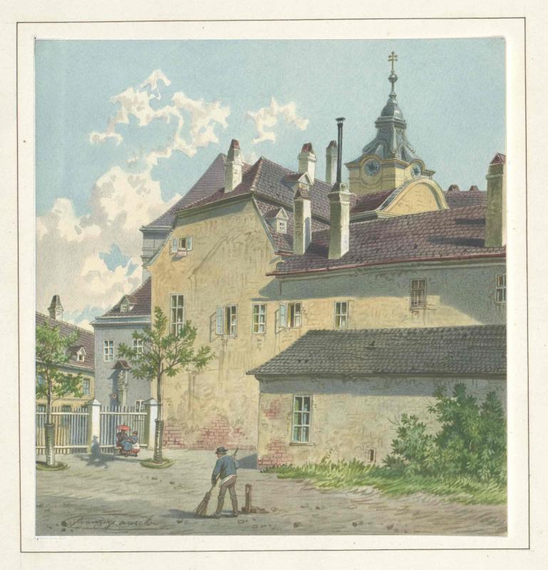 """Pfarrhof der Matzleinsdorfer Kirche """"Sankt Florian"""" in Wien"""