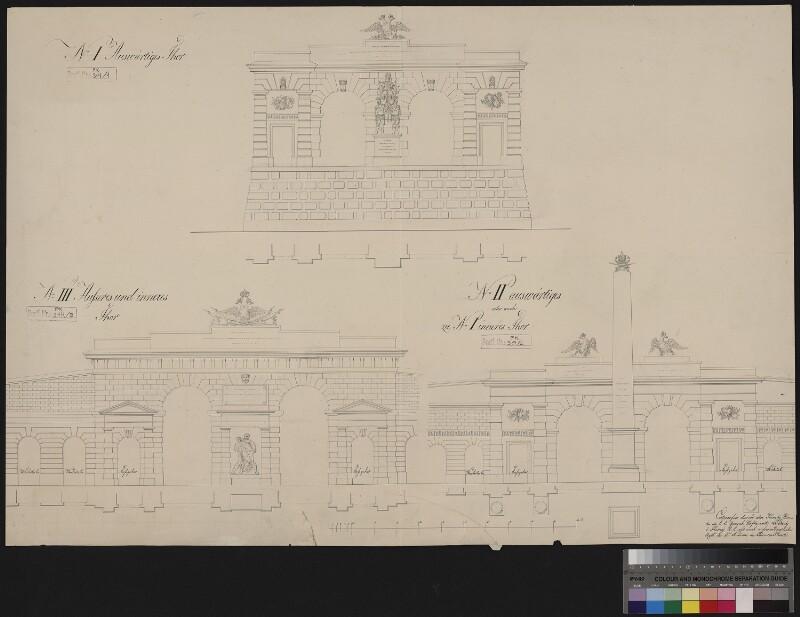 Wien 1, Burgtor - Entwurf Nr. I, II, III