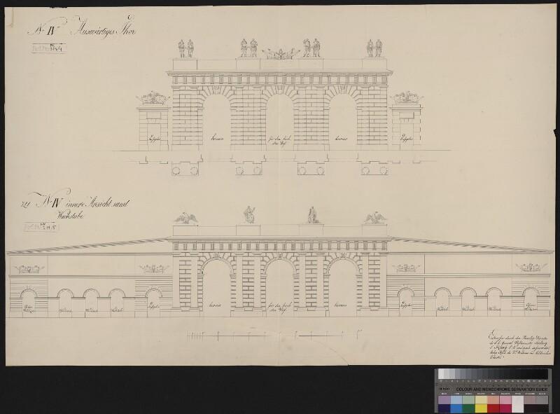 Wien 1, Burgtor - Entwurf - Nr. IV
