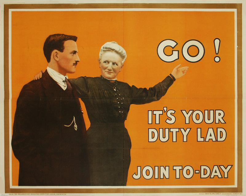 Go! It's your duty, Lad. Join to-day