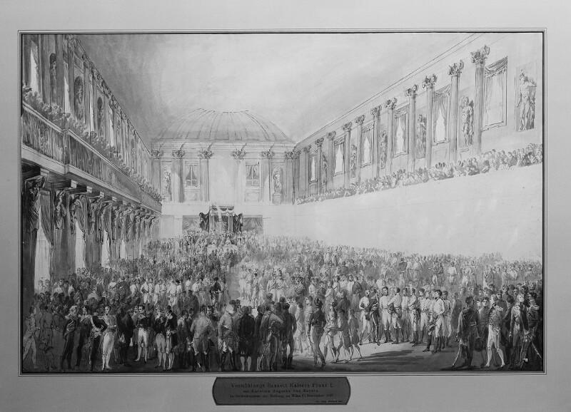 Vermählungsbankett aus Anlass der Hochzeit von Kaiser Franz II. und Prinzessin Karoline Auguste von Bayern
