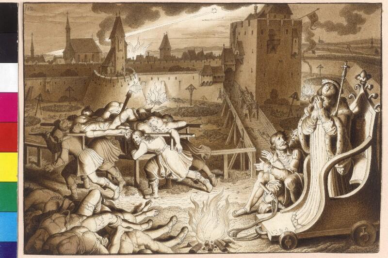 Die große Pest in Wien im Jahre 1349