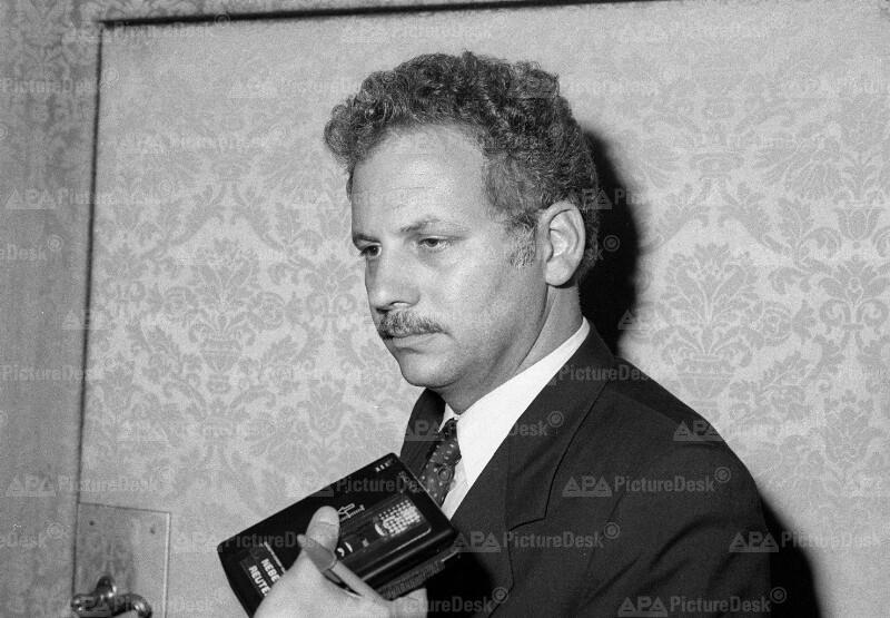 Kenneth Adelman beim Treffen der Sozialistischen Internationalen 1985 in Wien