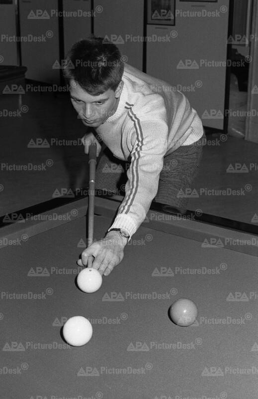 Christoph Pills bei der Billard EM 1986