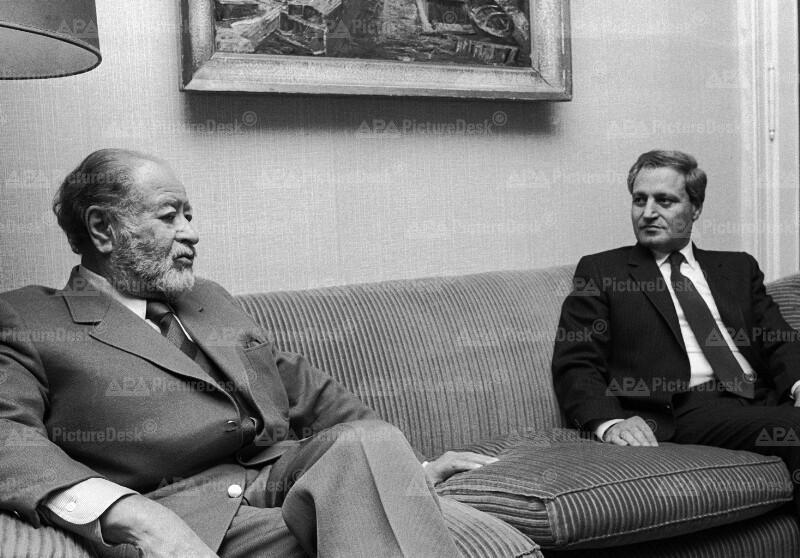 Bruno Kreisky und Faruk Sharaa