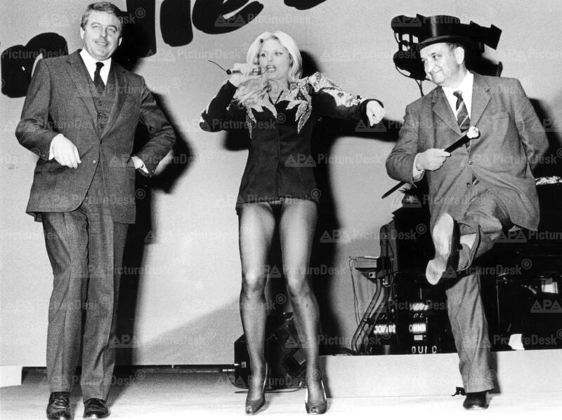 Franz Vranitzky, Marlene Charell und Fred Sinowatz