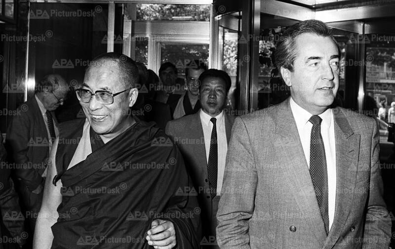 Alois Mock und der Dalai Lama