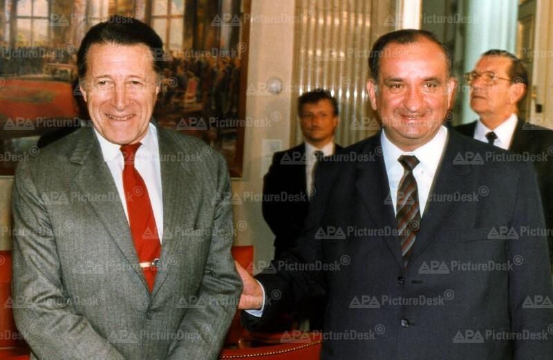 Caspar Weinberger und Fred Sinowatz