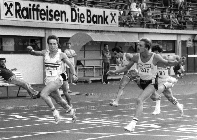 Andreas Berger beim Leichtathletik-Vierländerkampf in Linz