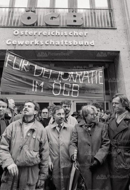 Protestkundgebung des ÖGB 1985