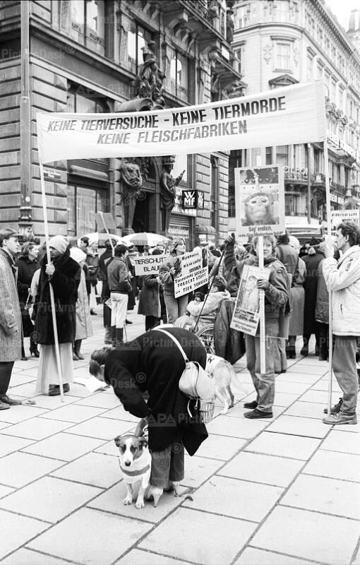 Demonstration vonTierschützern