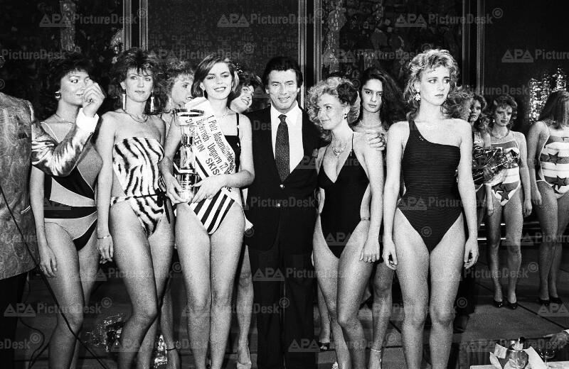 Piere Brice mit ungarischen Schönheiten bei Nationalwettbewerb