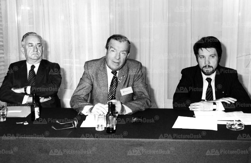 Weltbund der Auslandsösterreicher: Fritz Molden, Dante Bernardin und Werner Götz.
