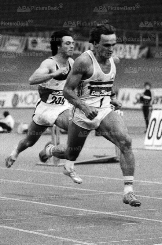 Andreas Berger beim Leichtathletik-Meeting 1986 in Wien