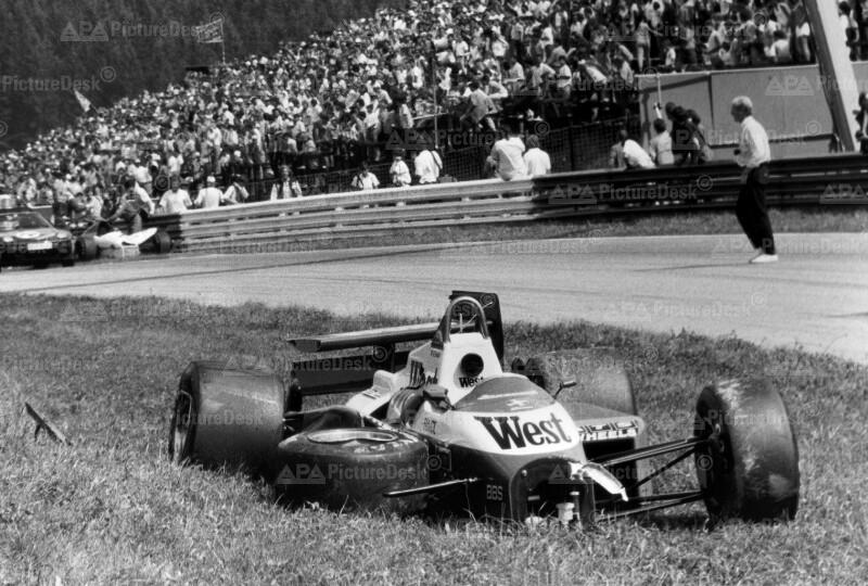 Grand Prix in Zeltweg - Unfall von Martin Brundle