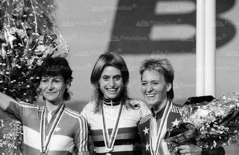 Bahn-Radweltmeisterschaften 1987 in Wien - Damen-Siegerehrung