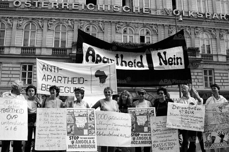 Anti-Apartheid-Demonstration 1987 in Wien