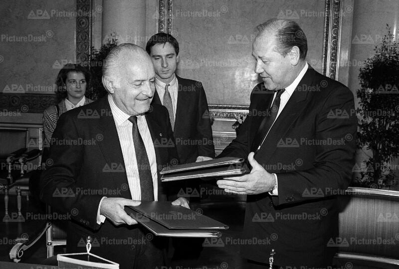 Blecha u. Scalfaro mit Anti-Terrorismus-Abkommen zwischen Österreich u. Italien