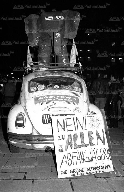 Anti-Abfangjäger Demo 1986 in Wien