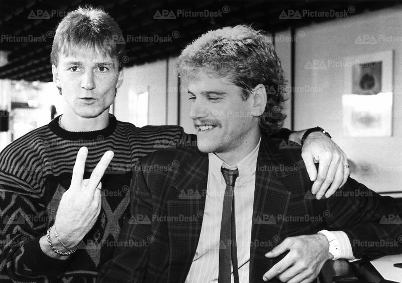 Fußball - Andi Ogris und Ernst Baumeister