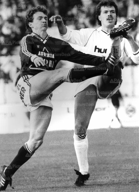 Fußball-Bundesliga 1987 - Austria vs. Sportclub - Ernst Ogris und Peter Jany