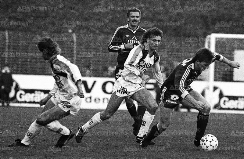 Fußball: Admira gegen Austria 1987 - Ogris, Kern, Prohaska
