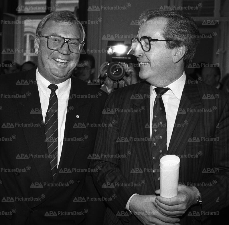 Alois Mock und Helmut Kukacka