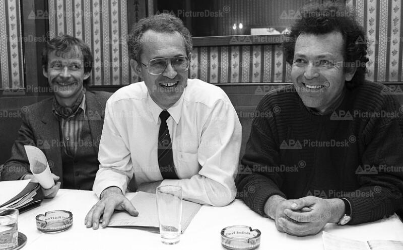 Die Grünen - Josef Buchner, Wolfgang Pelikan und Josef Korber