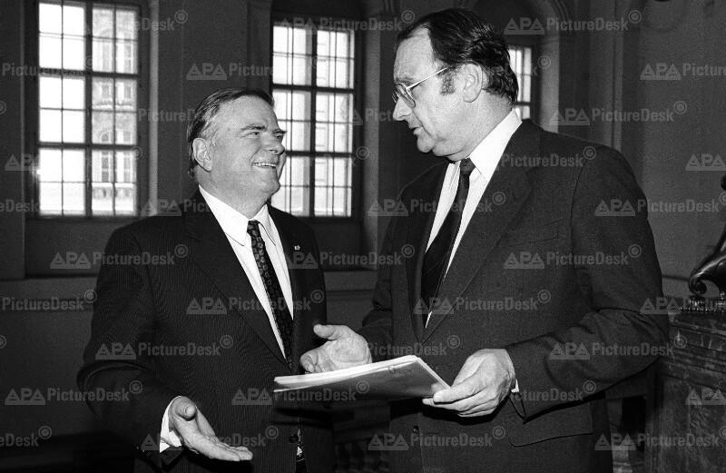 Die Justizminister Egmont Foregger und Harald Ofner