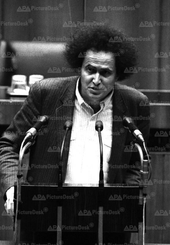 Andreas Wabl im Parlament