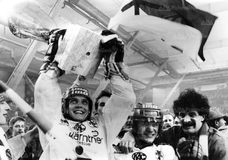 Der KAC holte den Eishockey-Meistertitel 1987
