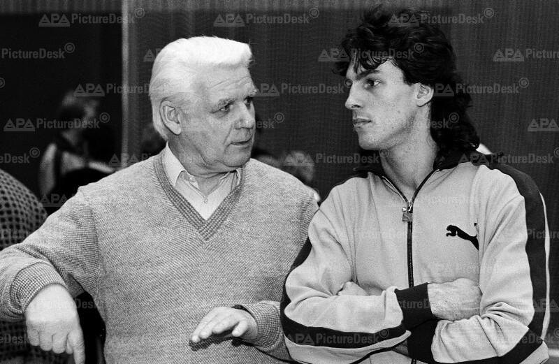 Fußball: Michael Konsel und Branko Elsner