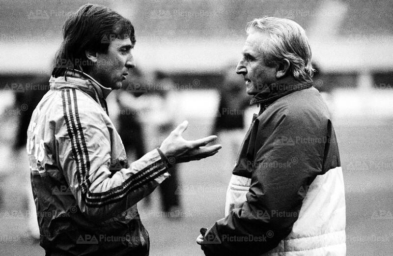 Fußball-Trainer: Thomas Parits und Miguel Munoz