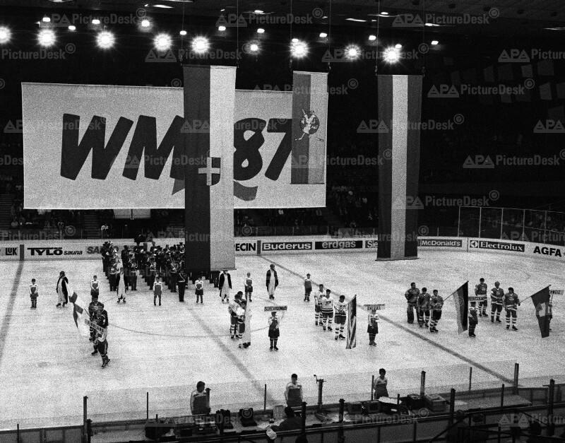 Eishockey-WM in Wien 1987- Eröffnungszeremonie