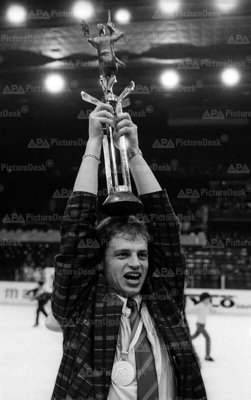 Eishockey WMin Wien 1987 - Kapitän des Sieger-Teams Bengt-Ake Gustafsson