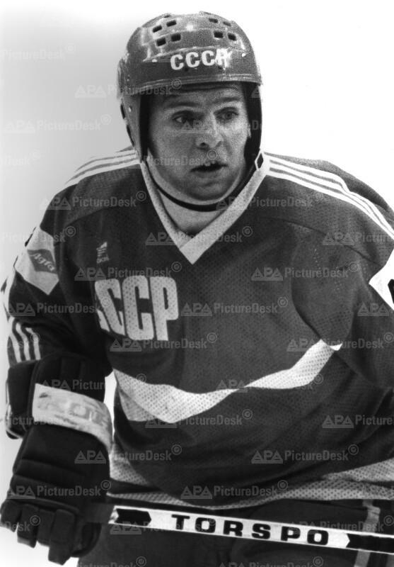 Wladimir Krutov , der Torschützenkönig der Eishockey- WM in Wien