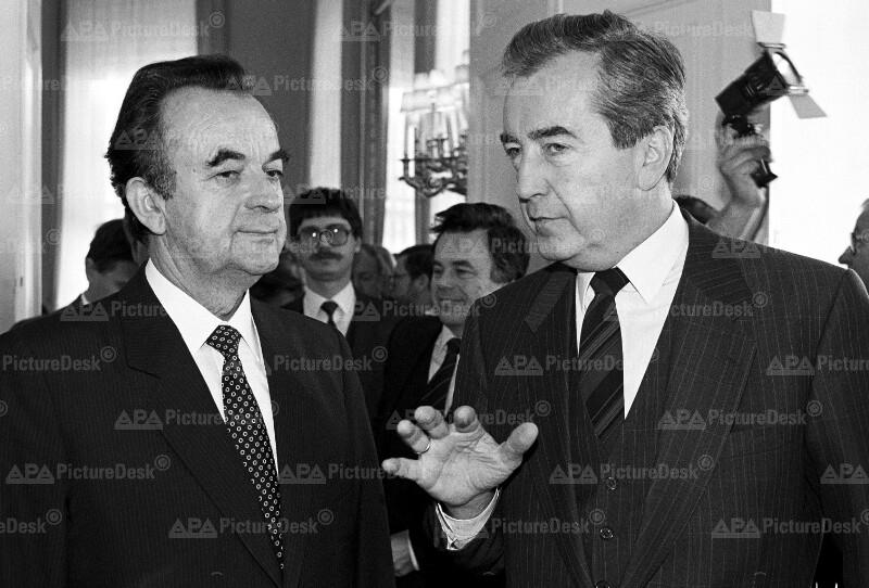 Alois Mock und Jaromir Johanes