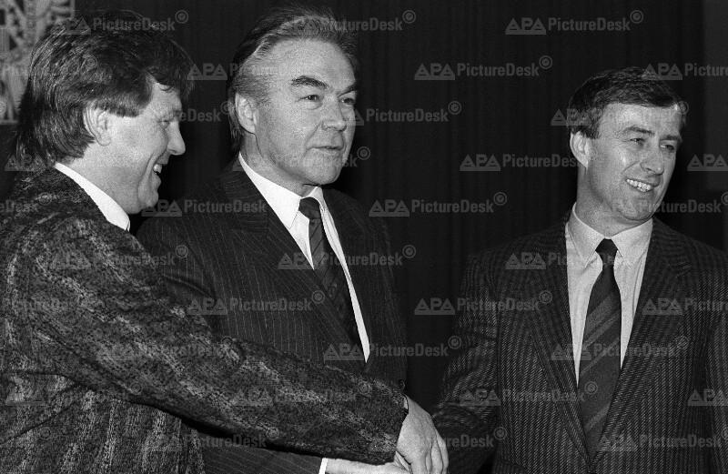 Friedl Koncilia, Josef Hickersberger und Beppo Mauhart