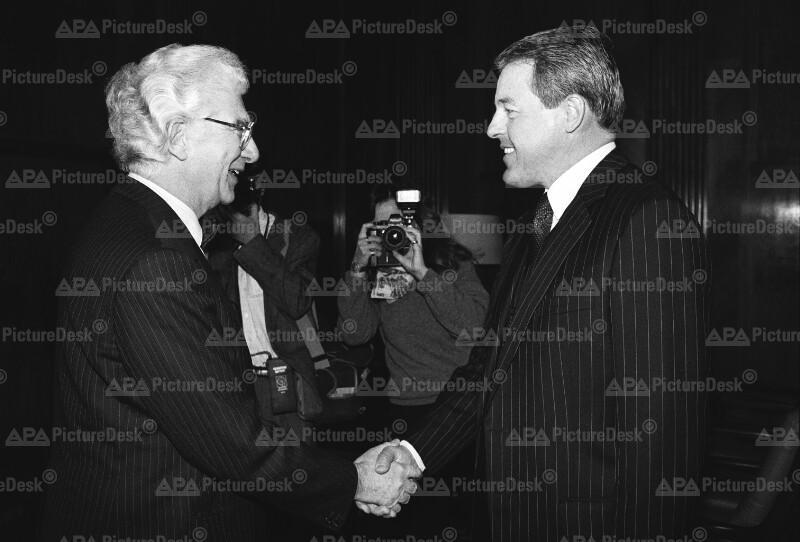 Eröffnung der EG-Botschaft in Wien: Franz Vranitzky und Willy de Clercq