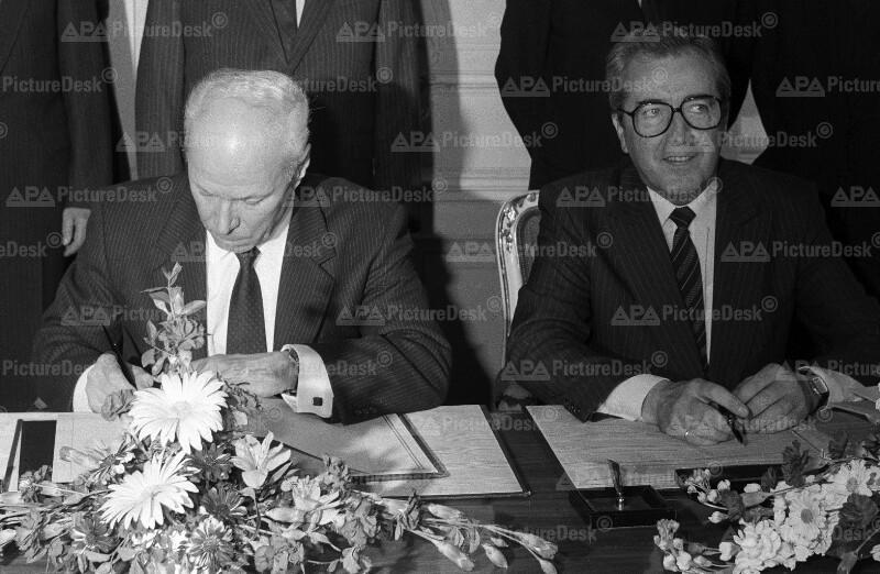 Alois Mock und Georg Sitzlack