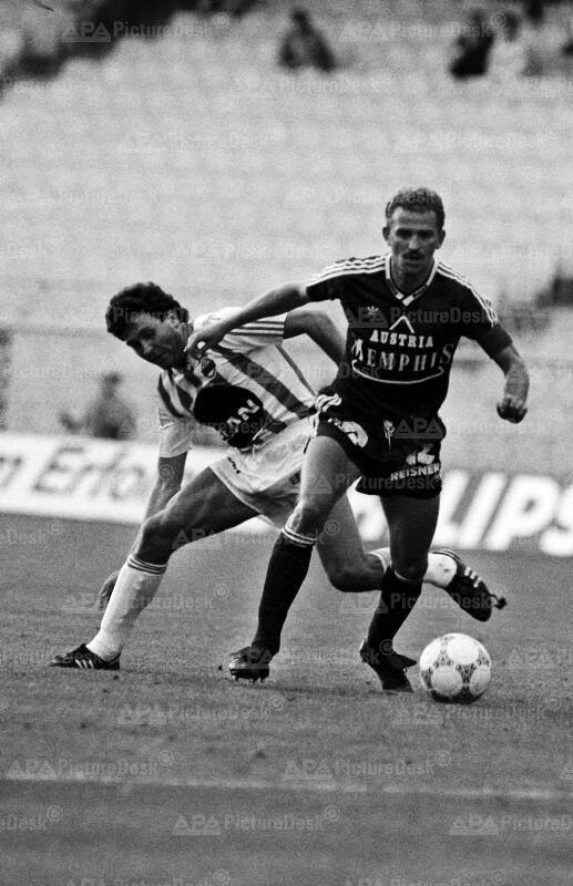 Bundesliga Play-Off 1988 - Austria vs. Rapid - Herbert Prohaska und Karl Brauneder