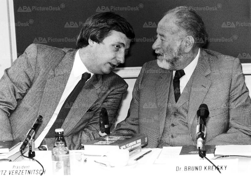 Bruno Kreisky und Fritz Verzetnitsch